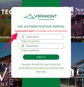 Authentication Failed Image
