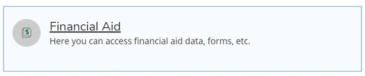 Financial Aid Tile