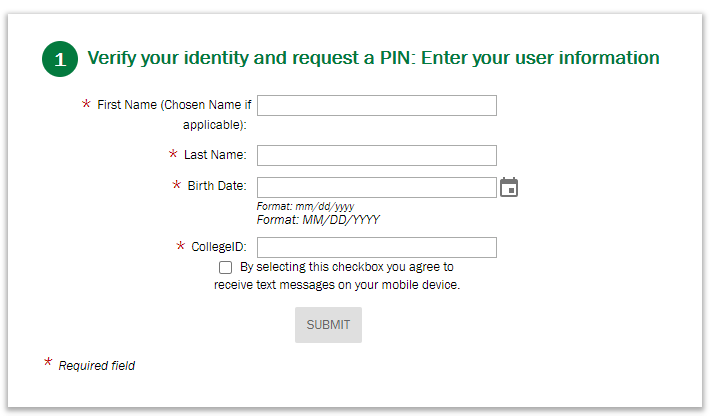 Password Reset Step1